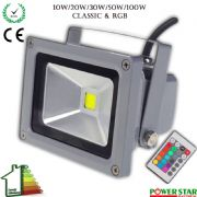 LED Security Outdoor Floodlights Garden RGB Colour IP65 SMD 10, 20, 30, 50, 100 Watts l Powerstar
